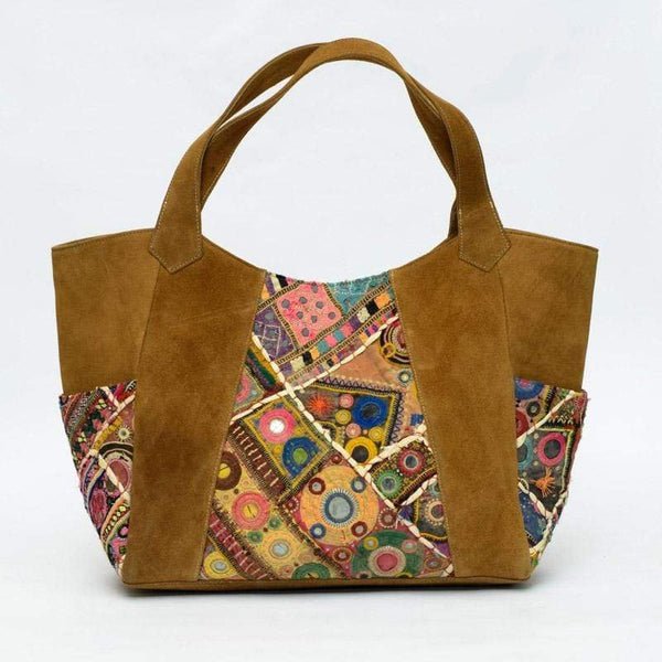 KHAMSIN- VINTAGE FABRIC PATCHWORK HAND BAG - ART AVENUE