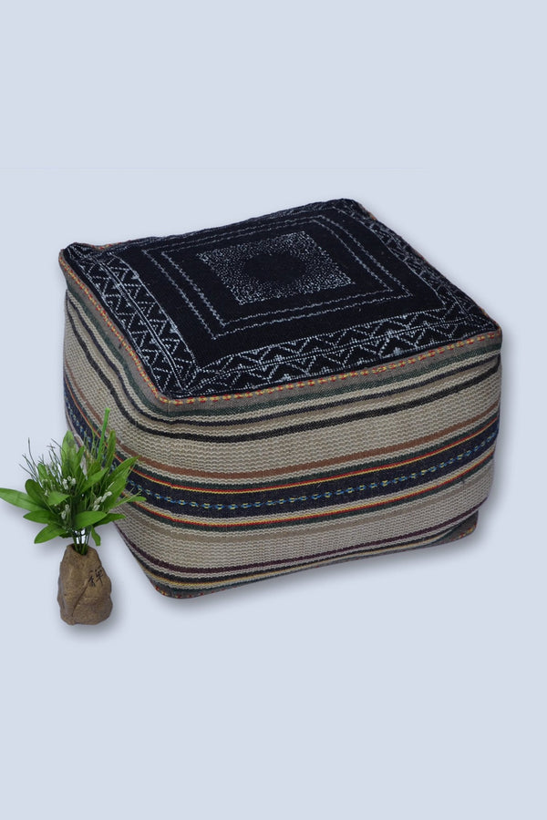 LASTLY - CUBICAL POUF-BLACK - ART AVENUE