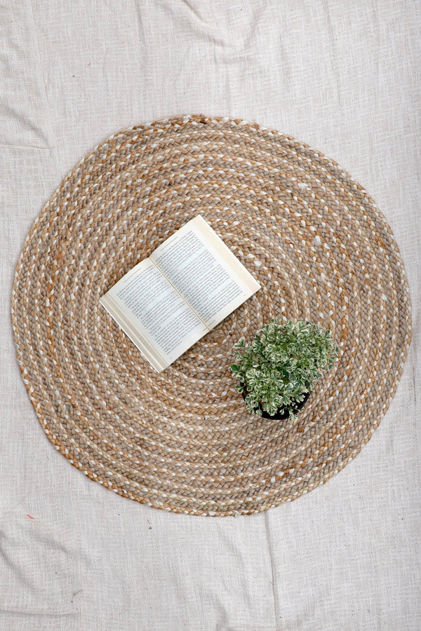 LEARN -ROUND RUG -BROWN - ART AVENUE