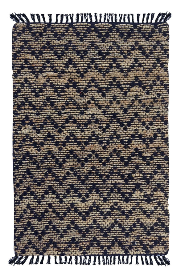 LINEAGE - HAND WOVEN RUG - BLACK - ART AVENUE