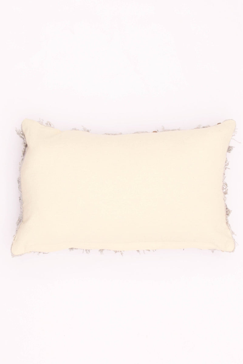 LOAMY - LUMBAR CUSHION COVER - GREY - ART AVENUE