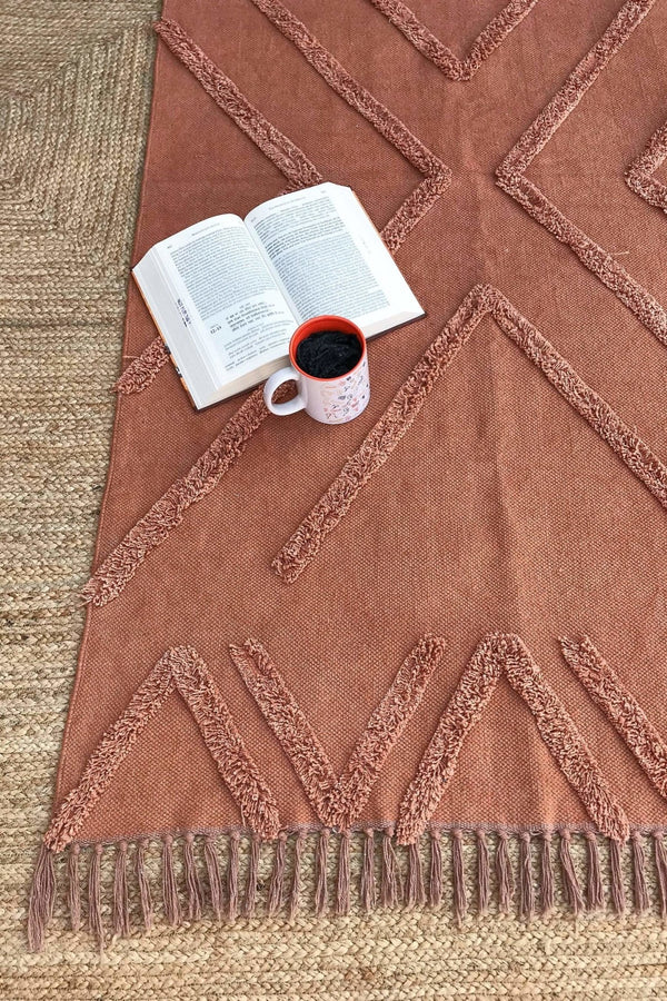 MADISON - OVERDYED HAND EMBROIDERED - RUST PINK - ART AVENUE