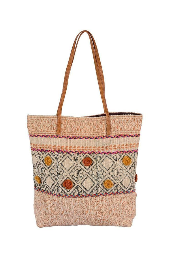 MAIZE - BLOCK PRINT TOTE BAG - ART AVENUE