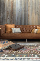 MANHATTAN LEATHER SOFA - 4 Sizes , 5 Colors - ART AVENUE