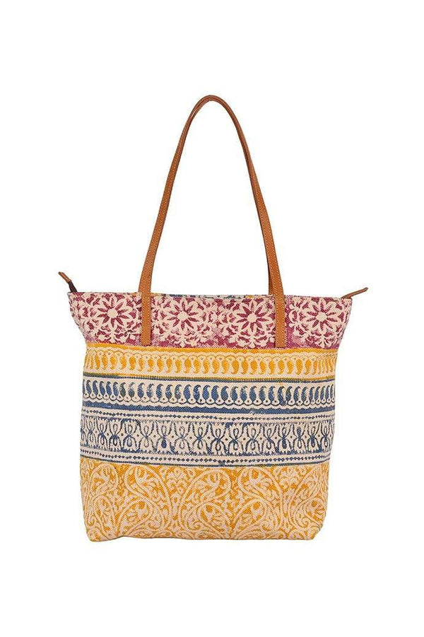 MARINO - BLOCK PRINT TOTE BAG - ART AVENUE
