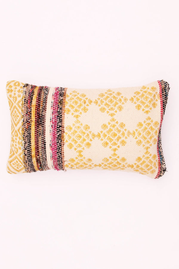 MARTIN - LUMBAR CUSHION COVER - YELLOW - ART AVENUE