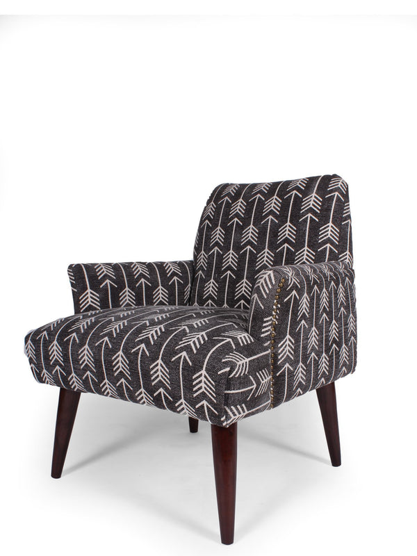 MASATO BACK ARM CHAIR - 5 Prints , 5 Colors - ART AVENUE