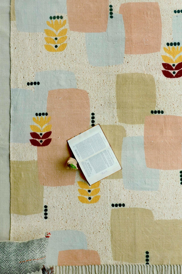 MODAK - PRINTED RUG - PEACH - ART AVENUE