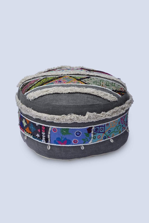 MURF - CYLINDRICAL POUF-GREY - ART AVENUE