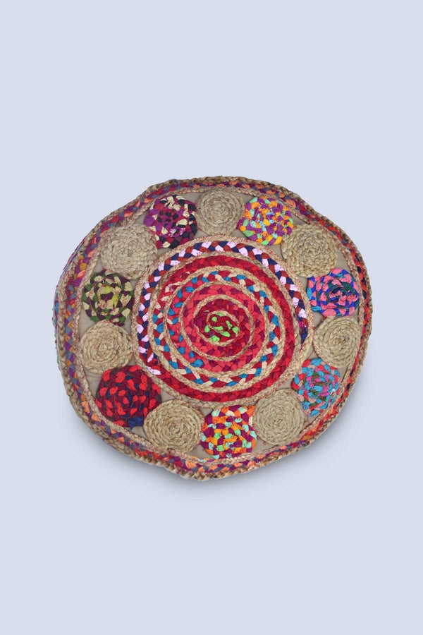 MURFY - CYLINDRICAL POUF-MULTICOLOUR - ART AVENUE