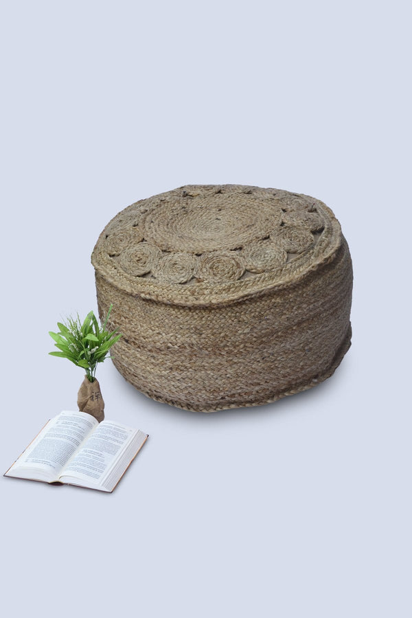NATURAL - CYLINDRICAL POUF-NATURAL - ART AVENUE