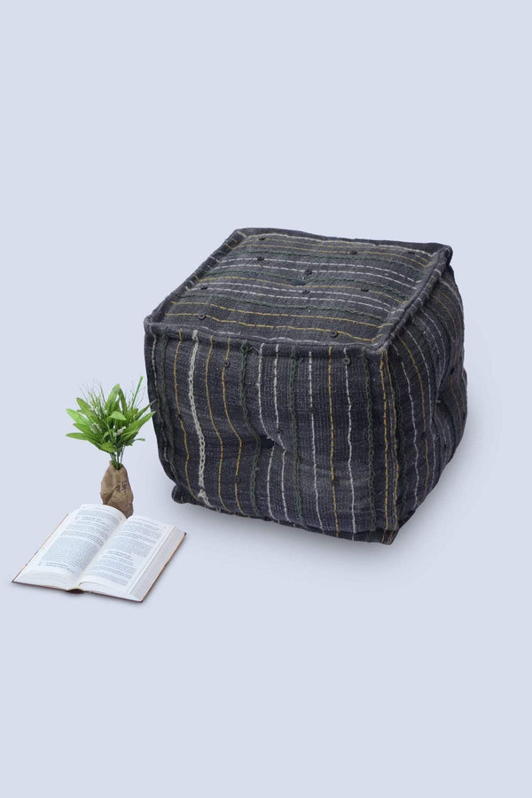 NEAT - CUBICAL POUF-GREY - ART AVENUE