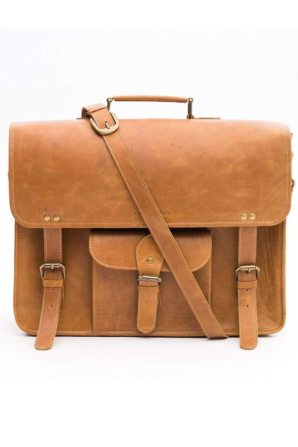 NIGHTCRAWLER - LEATHER LAPTOP BAG - TANN - ART AVENUE