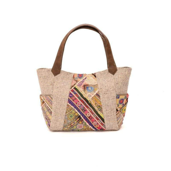 NOOR- VINATGE FABRIC PATCHWORK HAND BAG - ART AVENUE