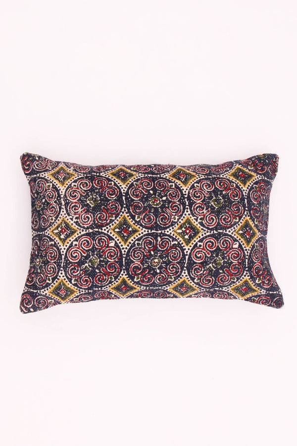 NURSIA - LUMBAR CUSHION COVER - NAVY BLUE - ART AVENUE