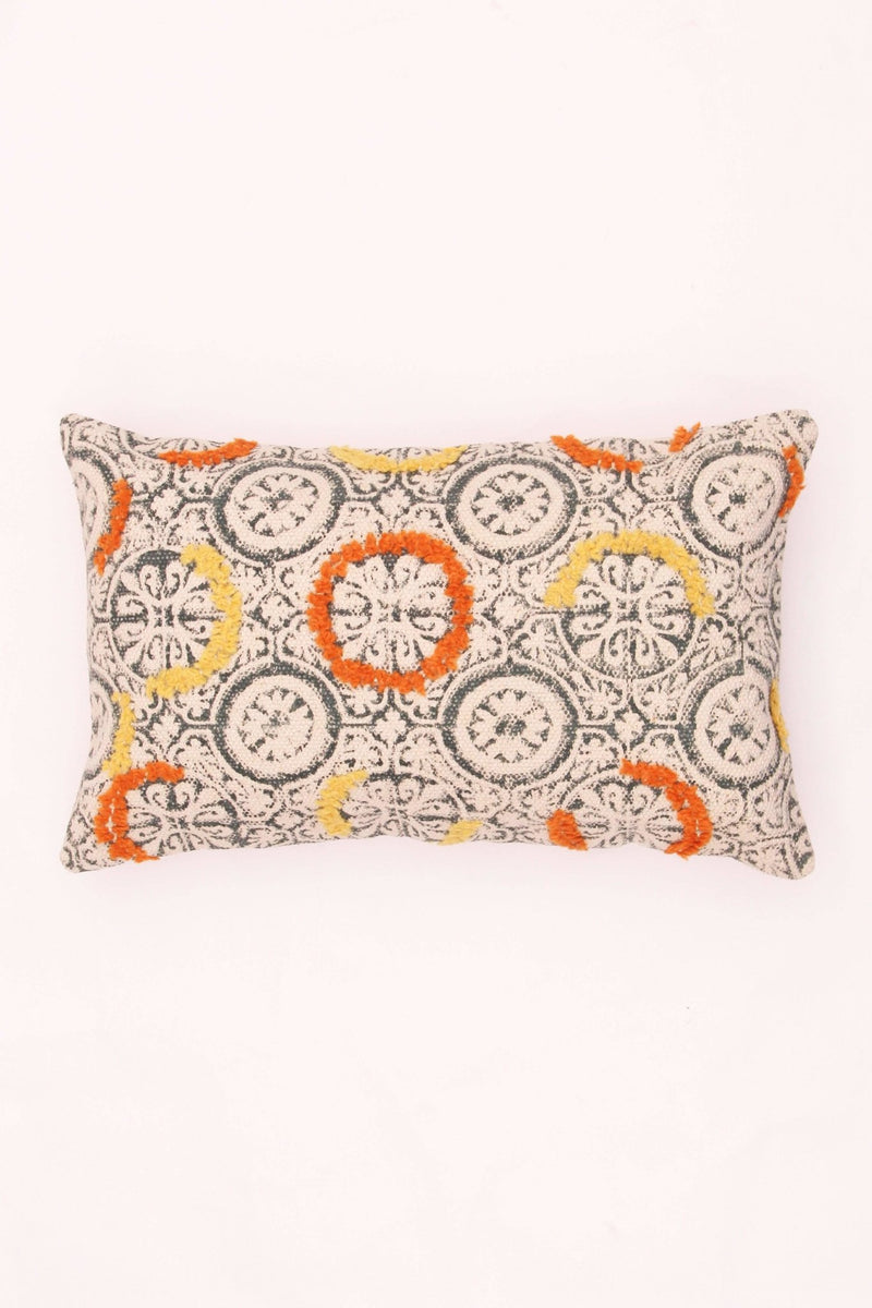 ORANGE - LUMBAR CUSHION COVER -BASE NATURAL - ART AVENUE