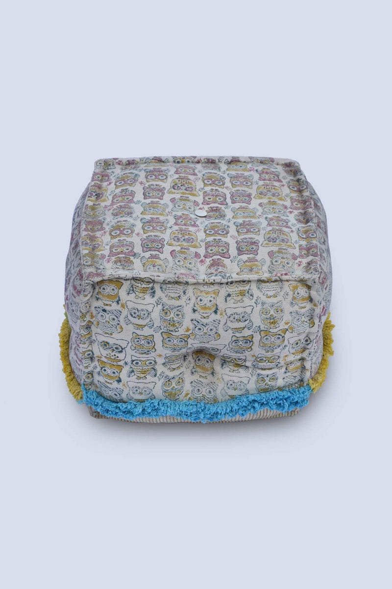 OWL - CUBICAL POUF-MULTICOLOUR - ART AVENUE