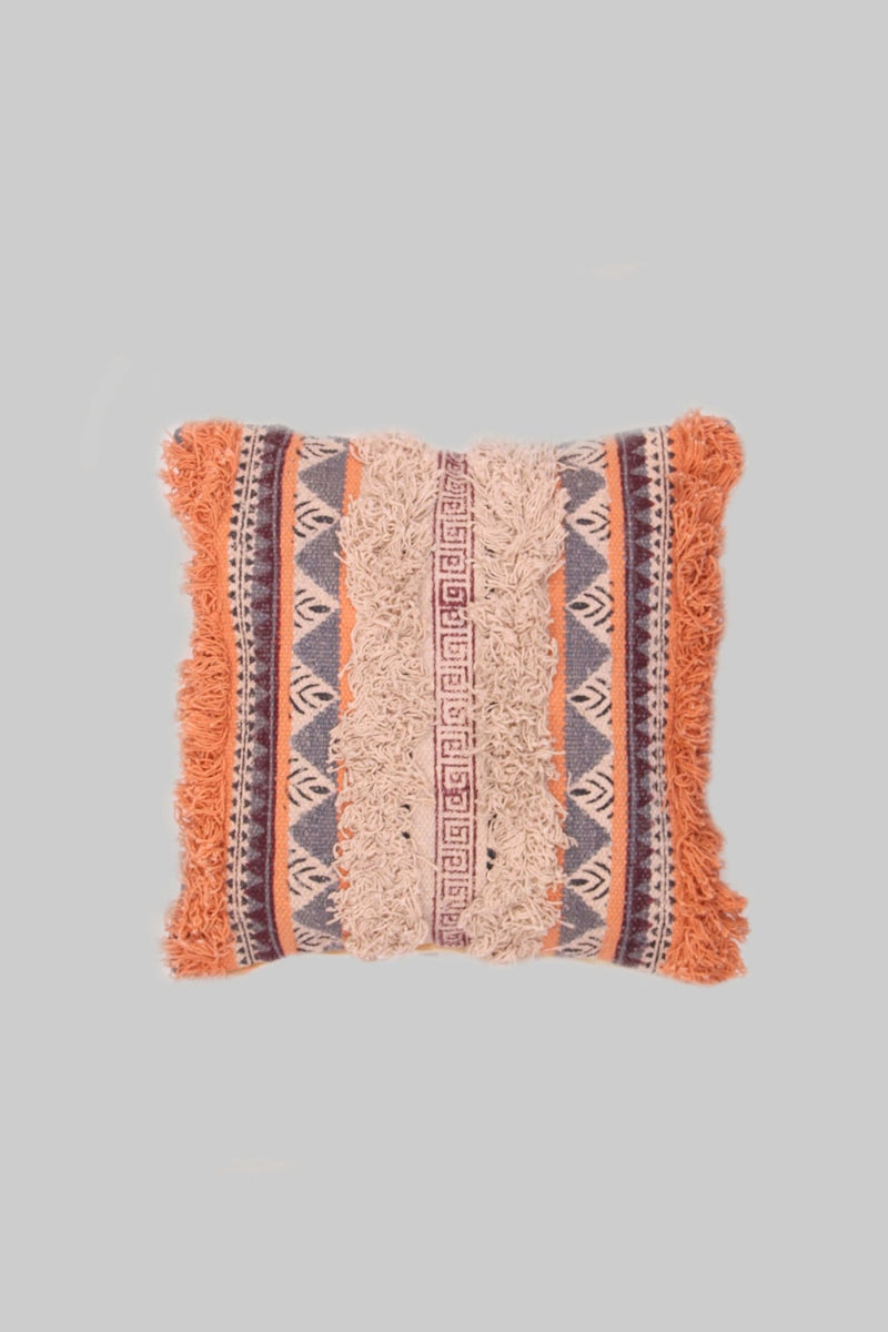 PEACH - SQUARE CUSHION COVER -ORANGE - ART AVENUE