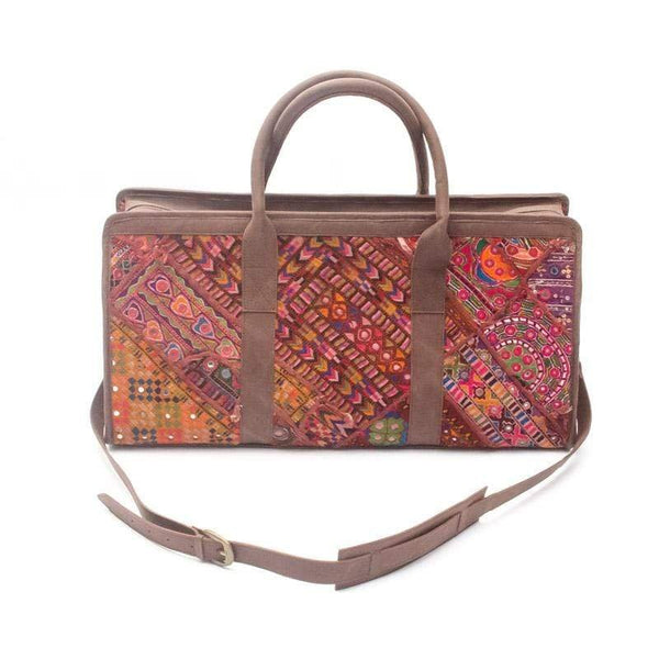 PORTICO- VINTAGE FABRIC PATCHWORK TRAVEL BAG - ART AVENUE
