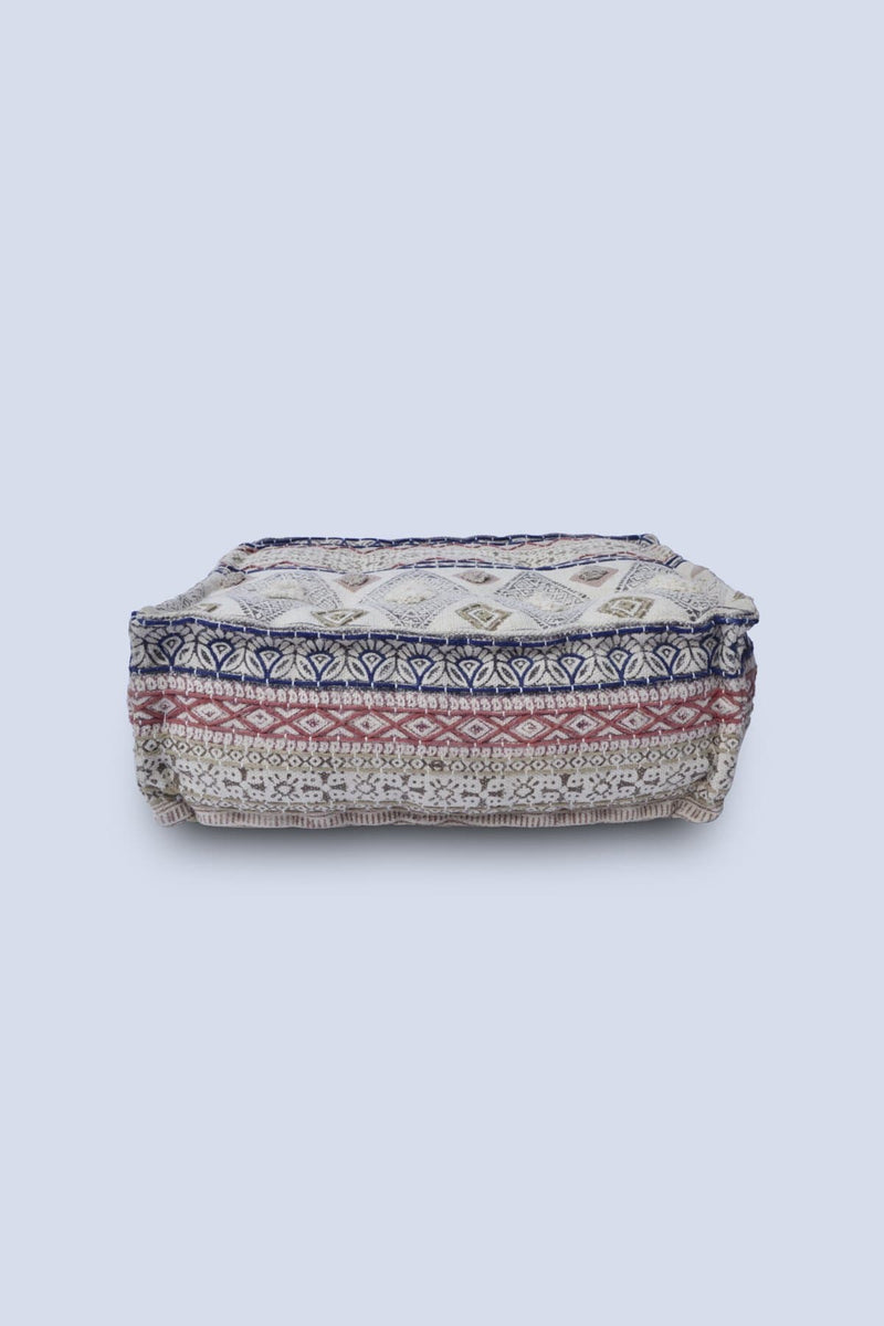 PUFFER - CUBICAL POUF- OFF WHITE - ART AVENUE