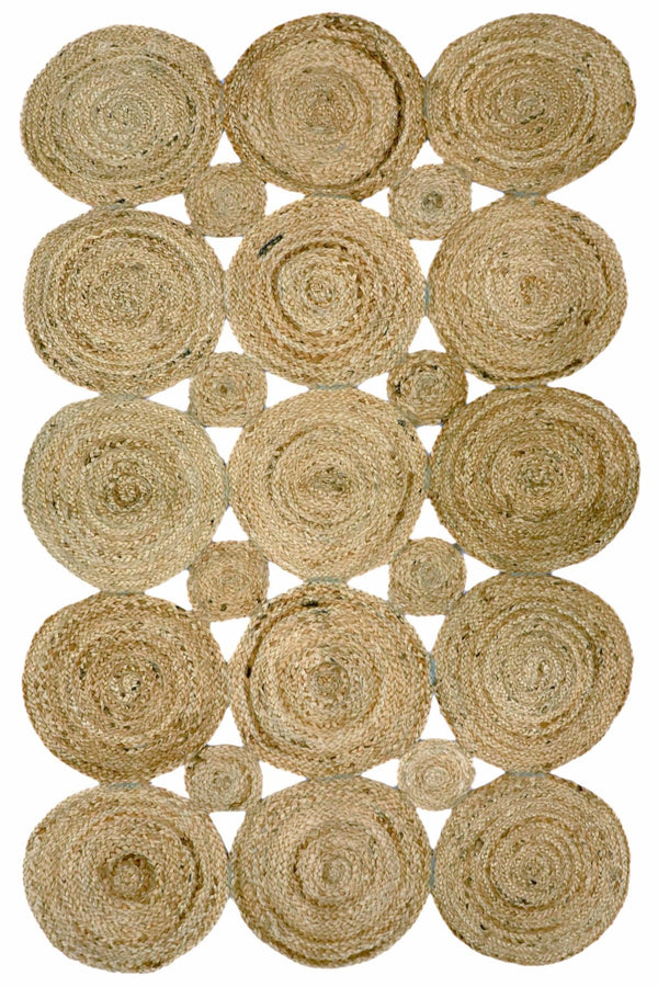 RECTANG -BRAIDED RUG - BROWN - ART AVENUE