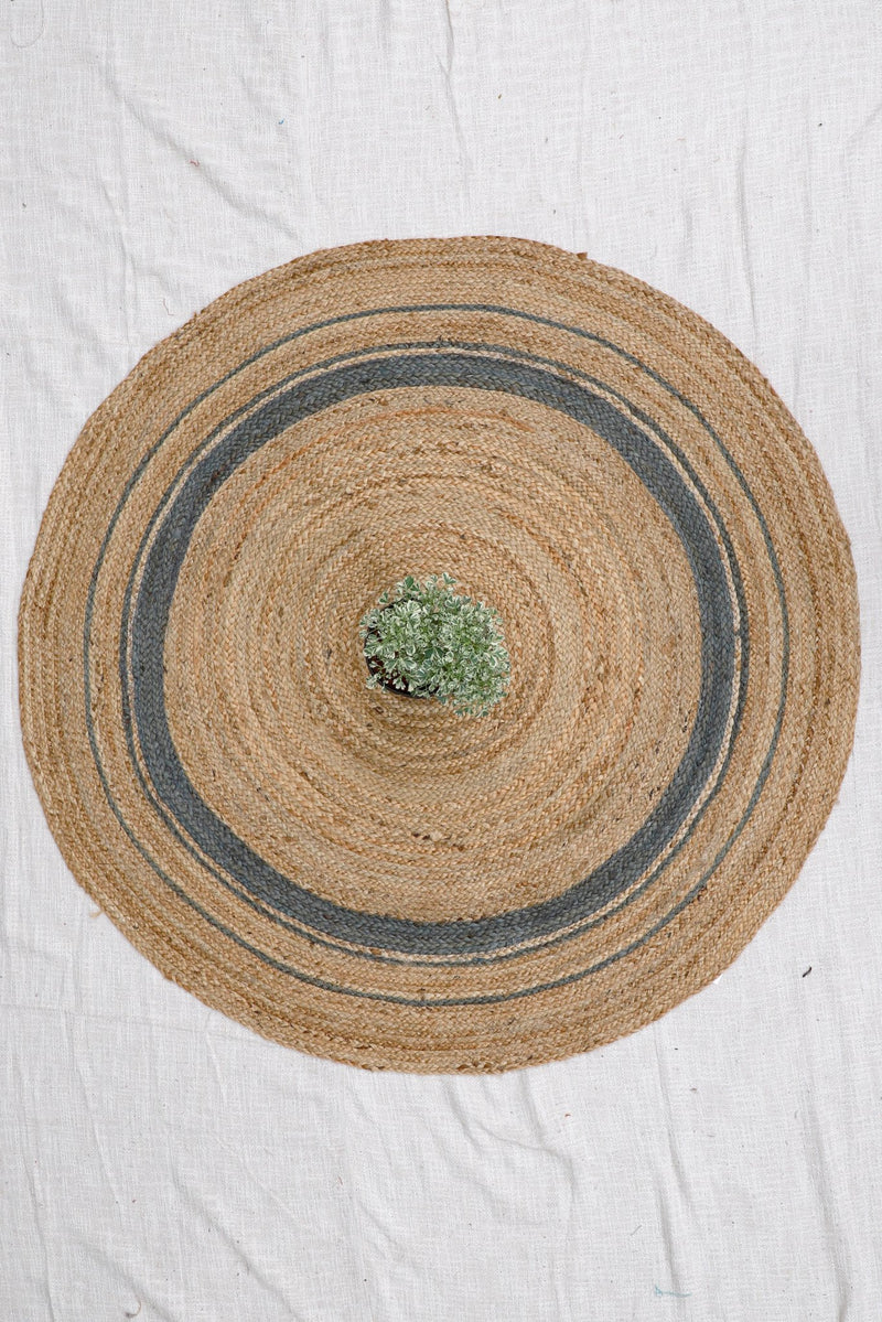 REED -ROUND RUG - GREY - ART AVENUE