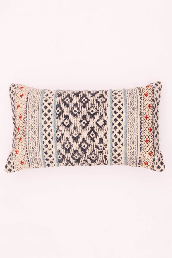 RUSTIC - LUMBAR CUSHION COVER - BLUE - ART AVENUE