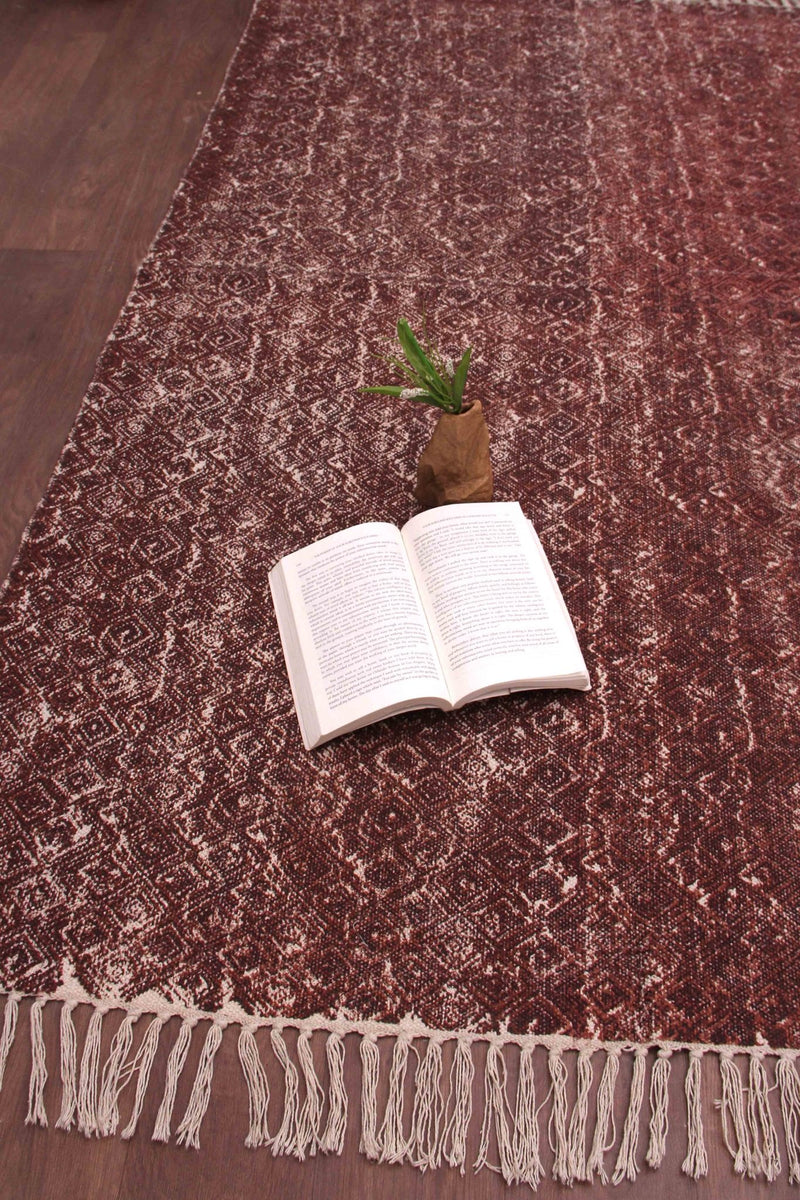 SCRIMP - PRINTED RUG - BROWN - ART AVENUE