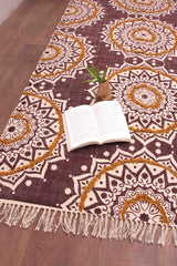 SCRIPTURE - PRINTED RUG - MAROON - ART AVENUE