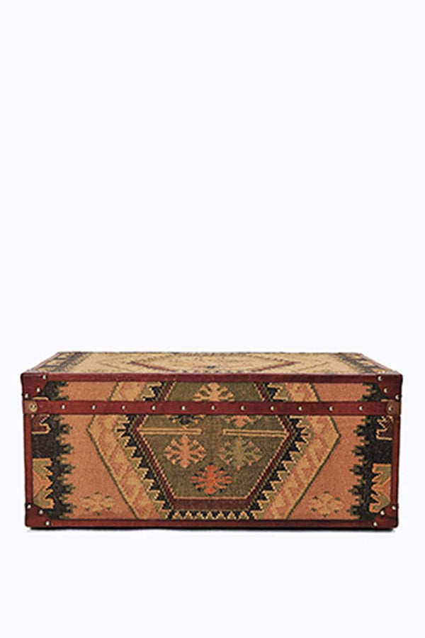 SEASON KILIM TRUNK/TABLE WITH LEATHER - ART AVENUE