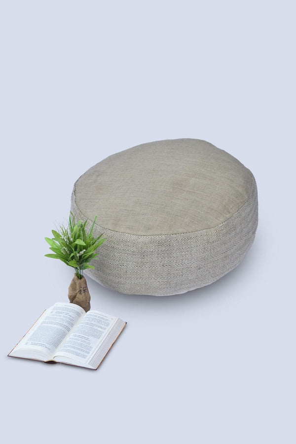 SEEN - CYLINDRICAL POUF-BEIGE - ART AVENUE