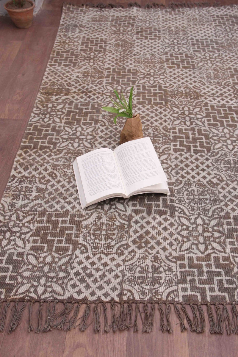 SEINE RECTANGULAR RUG BROWN - ART AVENUE