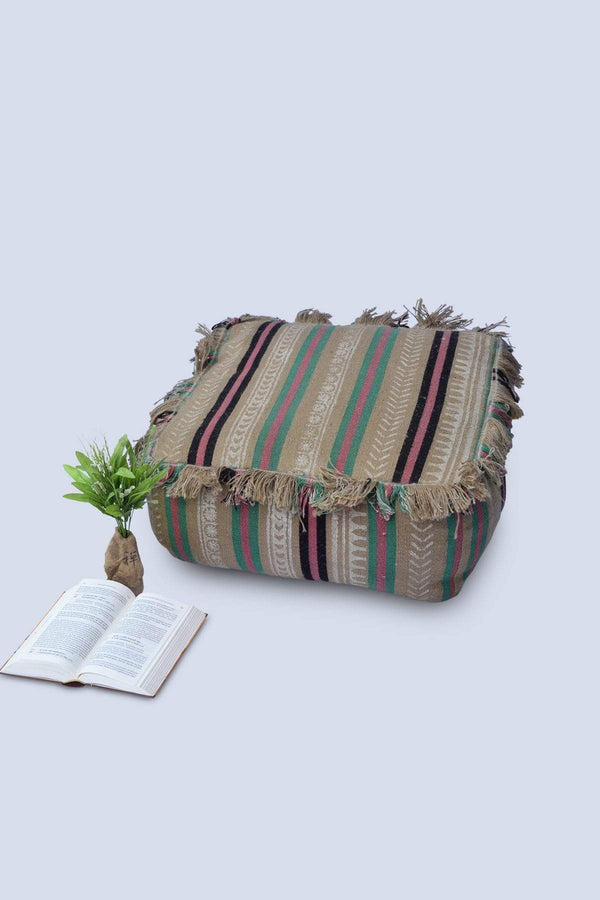 SELTO - CUBICAL POUF-BEIGE - ART AVENUE