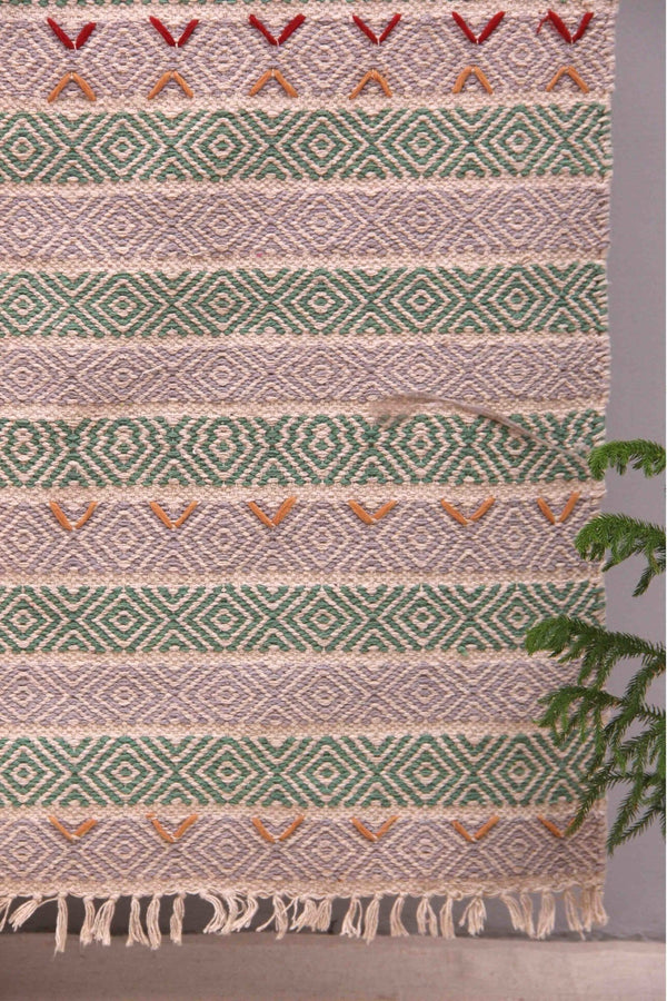 SESSION - WOVEN RUG - GREEN - ART AVENUE