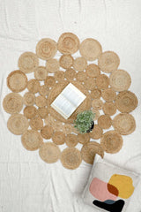 SIMPLER -ROUND RUG -NATURAL - ART AVENUE