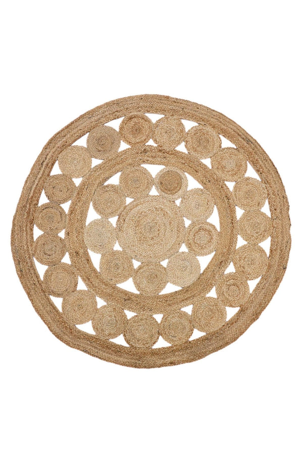 SIMPLEST -ROUND RUG -NATURAL - ART AVENUE