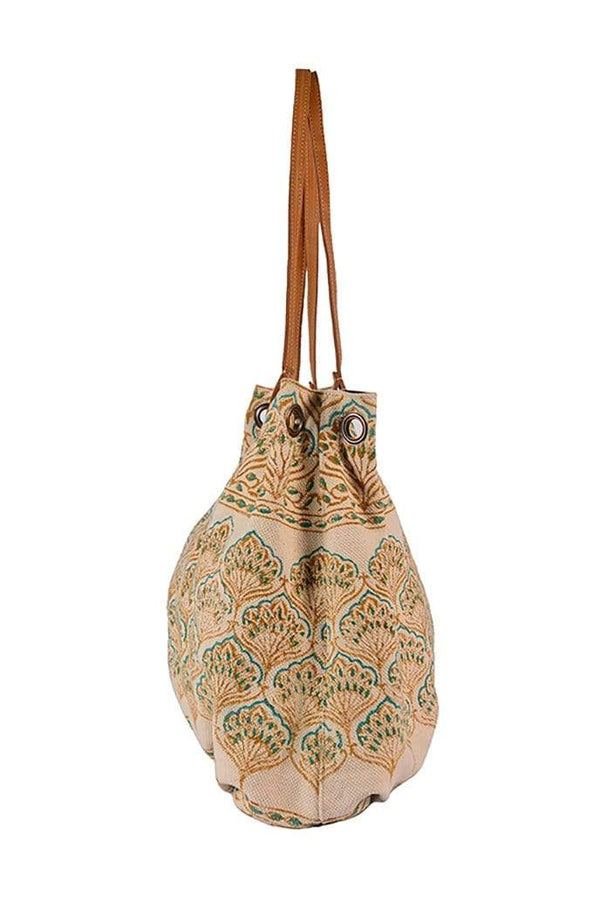 SINT - BLOCK PRINTED HAND BAG - ART AVENUE