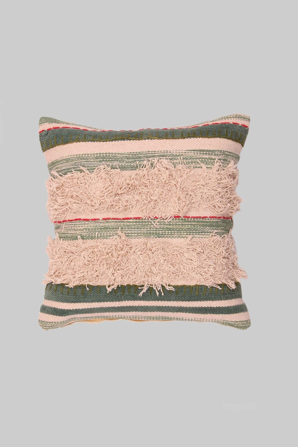 SMOOTH - SQUARE CUSHION COVER -GREEN - ART AVENUE