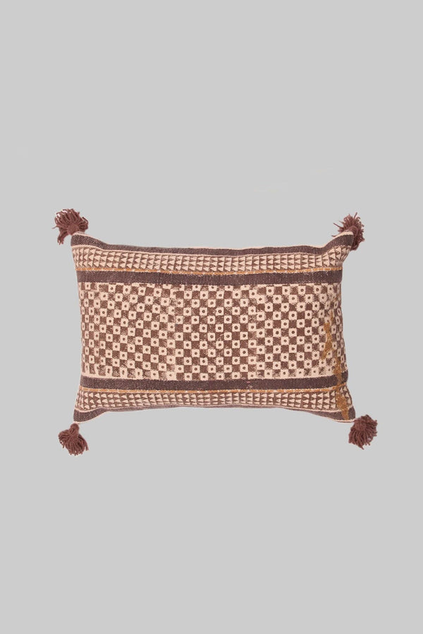 SQUAREGENICS - LUMBAR CUSHION COVER - BROWN - ART AVENUE