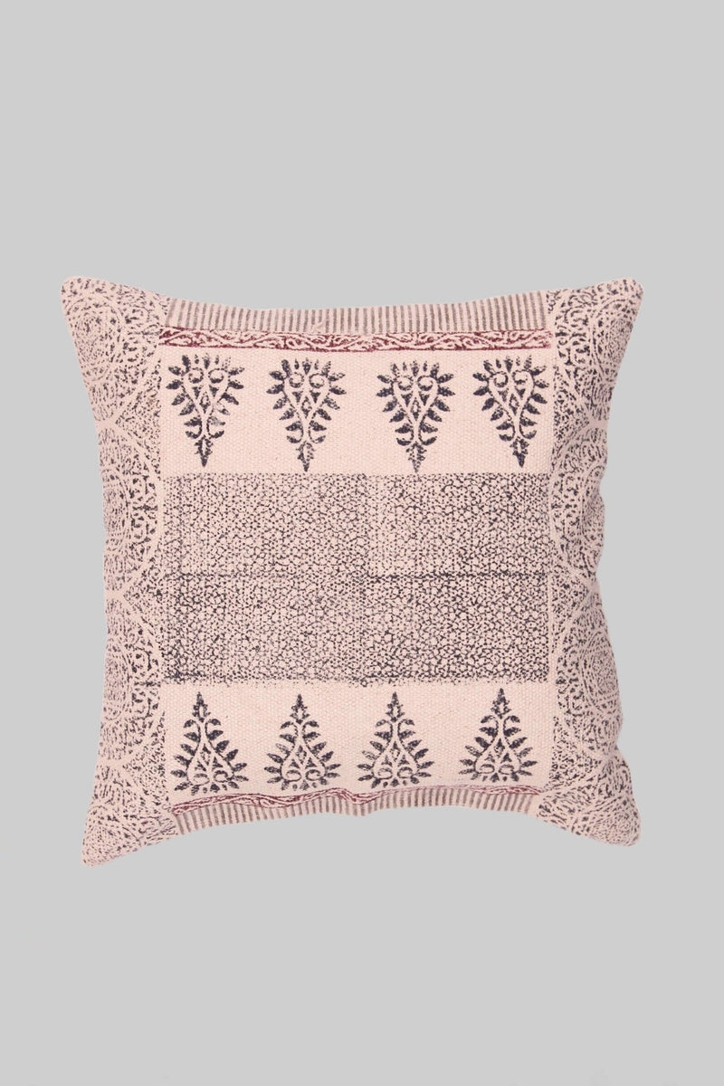 STREAM - SQUARE CUSHION COVER -BLACK - ART AVENUE