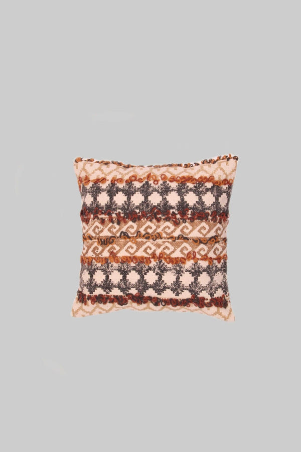 SURFACE - SQUARE CUSHION COVER -BROWN - ART AVENUE