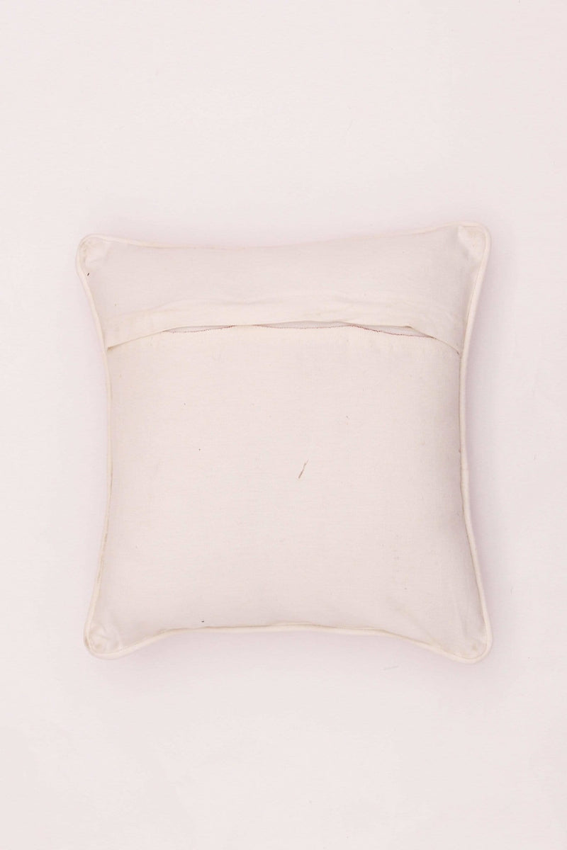 SWASTIK I - SQUARE CUSHION COVER - WHITE - ART AVENUE