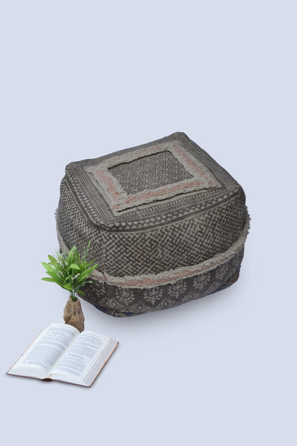 TAPER - CUBICAL POUF-BROWN - ART AVENUE