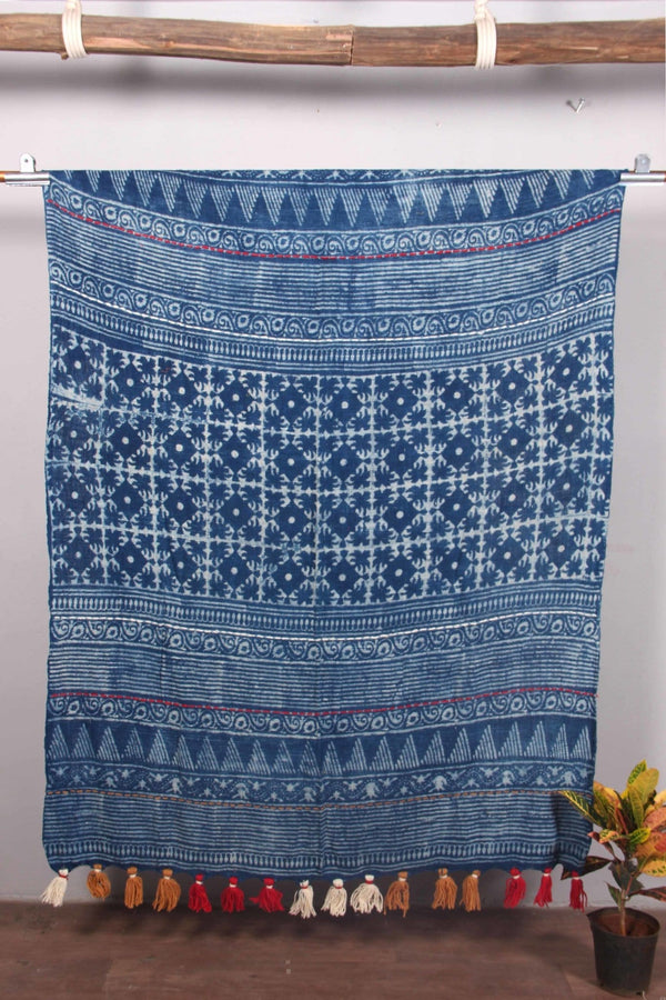 TAPER - THROWS - INDIGO - ART AVENUE