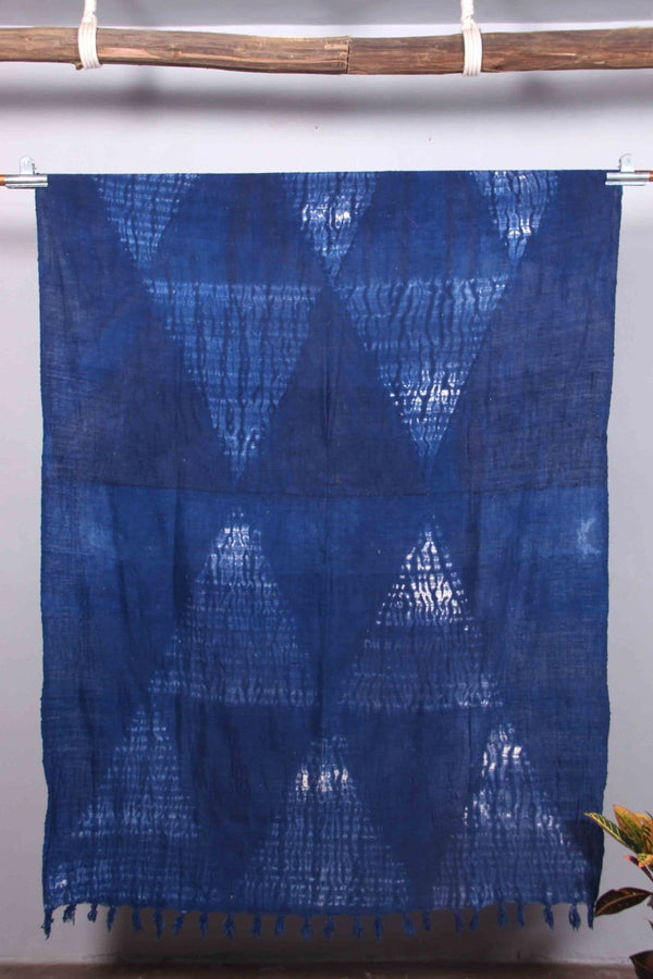 TATTERED - THROWS - INDIGO - ART AVENUE