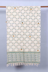 TATTERS - THROWS - SAGE GREEN - ART AVENUE