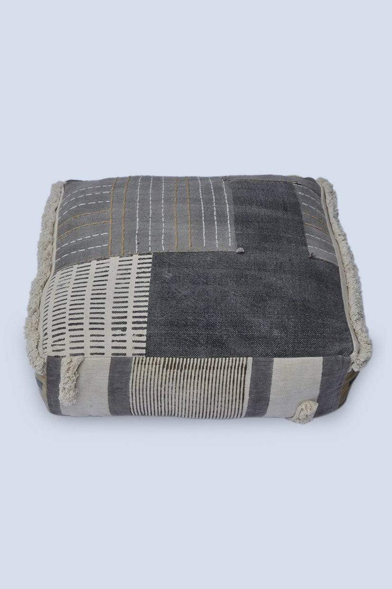 TOFFEE - CUBICAL POUF-GREY - ART AVENUE