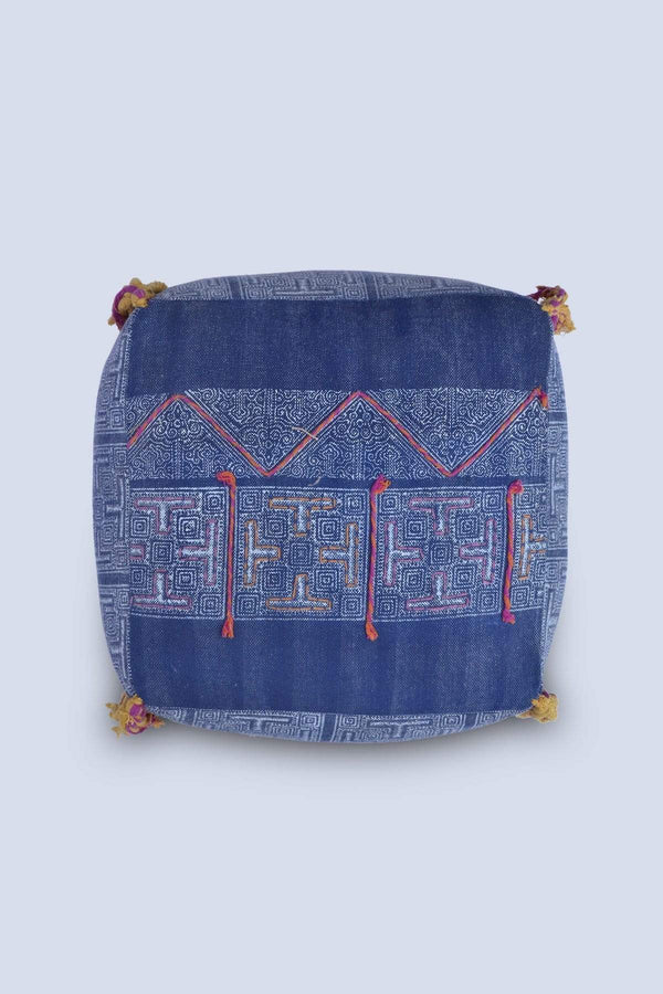 TRUM - CUBICAL POUF-INDIGO - ART AVENUE