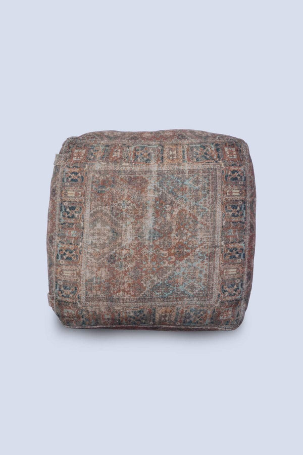 TUFF - CUBICAL POUF- BROWN - ART AVENUE