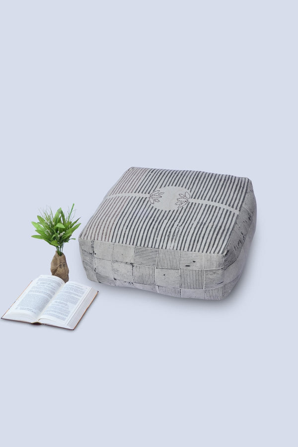 TUFFER - CUBICAL POUF-GREY - ART AVENUE